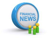pieniężnej ikony ilustracyjny wiadomości wektor Fotografia Stock