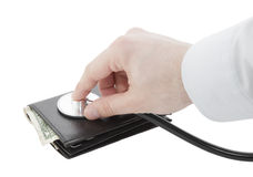 pieniężni zdrowie Zdjęcie Stock