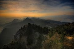 The Pieniny Mountains Royalty Free Stock Photos