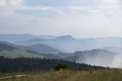Pieniny mountains. View of Pieniny mountains (Poland) on AUGUST 2012 Stock Photos