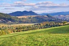The Pieniny Mountains landscape, Carpathians. Royalty Free Stock Photos