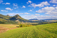 The Pieniny Mountains landscape, Carpathians. Royalty Free Stock Image