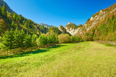 The Pieniny Mountains sunny landscape. Carpathians Stock Image