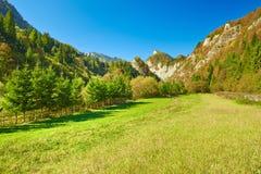 The Pieniny Mountains sunny landscape. Carpathians Stock Image