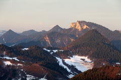 Pieniny national park - Poland and Slovakia at winter Stock Photos