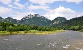 Pieniny nationalpark, Slovakien, Europa Arkivbilder