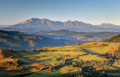 Pieniny and Tatras in Slovakia Royalty Free Stock Image