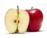 In pieno & Apple mezzo fotografia stock
