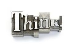 Piense. Imagen de archivo libre de regalías
