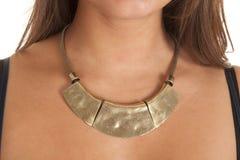 Piense el collar del oro Fotos de archivo libres de regalías