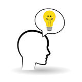 Piense el concepto del diseño, del positivo y de la idea Fotografía de archivo libre de regalías