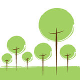 Piense el concepto verde de la ecología Fotos de archivo libres de regalías