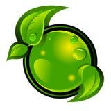 Piense el icono verde Fotos de archivo libres de regalías