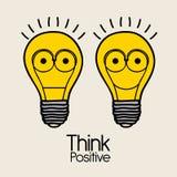 Piense el positivo Fotos de archivo libres de regalías
