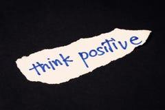 Piense el positivo Imagen de archivo