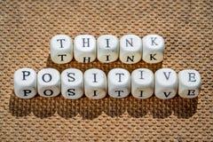 Piense el positivo Imagen de archivo libre de regalías