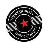Piense el sello de goma de la calidad Imagen de archivo libre de regalías