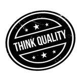 Piense el sello de goma de la calidad Imágenes de archivo libres de regalías