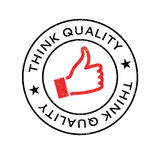 Piense el sello de goma de la calidad Fotografía de archivo libre de regalías