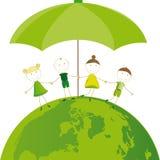 Piense el verde Imágenes de archivo libres de regalías