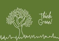 Piense el verde Fotos de archivo