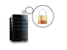 Piense en el recibimiento de seguridad Imágenes de archivo libres de regalías