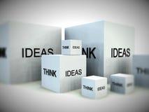 Piense en las ideas 4 Imágenes de archivo libres de regalías