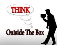 Piense fuera del asunto del rectángulo Imágenes de archivo libres de regalías