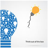 Piense fuera del concepto de la caja Imagen de archivo