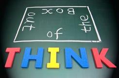 Piense fuera del rectángulo Imagen de archivo libre de regalías