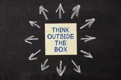 Piense fuera del rectángulo Foto de archivo