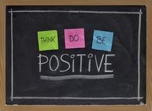 Piense, hacen, ser positivo Imagen de archivo