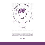 Piense la bandera de proceso creativa del web del negocio de la nueva inspiración de la idea con el espacio de la copia ilustración del vector