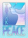 Piense la paloma de la paz libre illustration