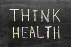 Piense la salud Fotografía de archivo