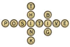 Piense positivo y grande Imágenes de archivo libres de regalías