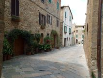 Pienza. The town of Pienza is a small pearl in the Tuscan countryside Royalty Free Stock Photography
