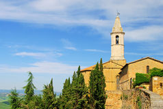 Pienza cathedral Stock Photos