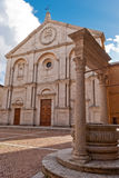 Pienza Cathedral, Tuscany Stock Photography
