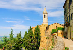 Pienza cathedral Royalty Free Stock Photo