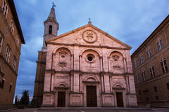 Pienza cathedral view Stock Photography