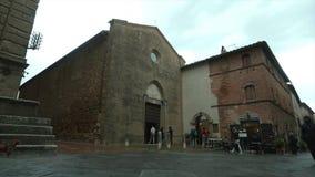 Pienza, church of San Francesco stock footage