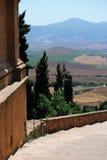 Pienza, cidade de Tuscan do visitatat Foto de Stock Royalty Free