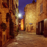 Pienza city street Stock Photos