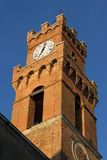 Pienza city tower Royalty Free Stock Images