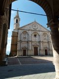 Pienza - Duomo facade. Royalty Free Stock Image