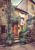 Pienza en Toscana Imágenes de archivo libres de regalías