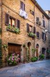 Pienza en Toscana Imagenes de archivo