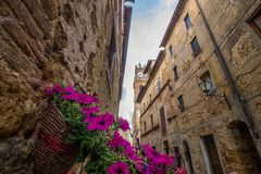 Pienza en Toscane en Italie photo stock