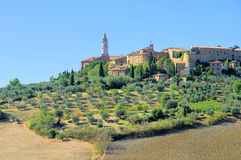 Pienza in fall Royalty Free Stock Photos